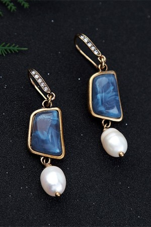 Vintage Perle Drop Earrings