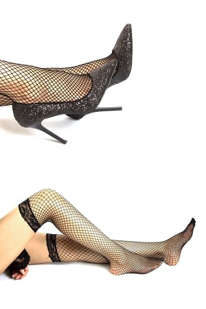Fishnet Stockings Socks Set