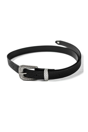 Silver Single Buckle Belt