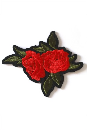 Floral Embroidered Patch