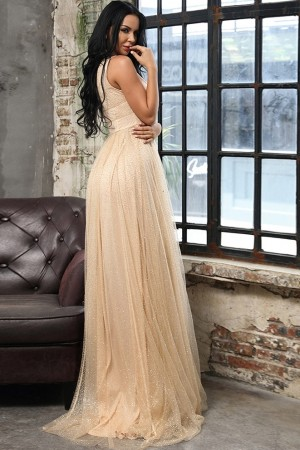 Yasmine Gold Luxe Gown
