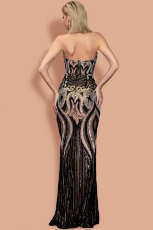 Audrey Noir Luxe Gown