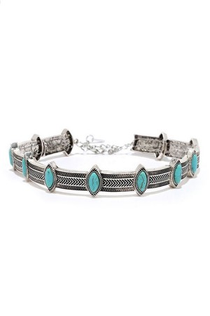 Turquoise Silver Choker