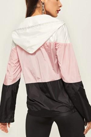 Color Block Bomber Jacket