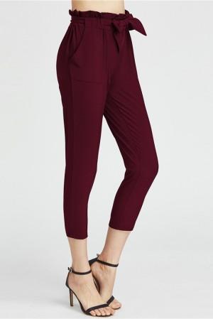 Ruffle Waist Pants