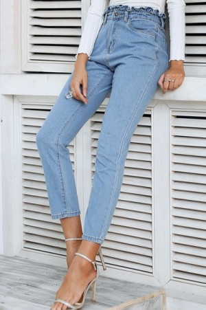 Callie Ruched High Waist Jeans