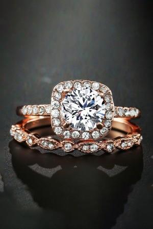 Diamante Rose Gold Rings