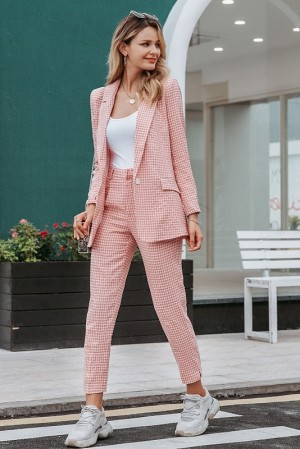 Audelia Plaid Pant Suit