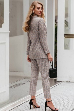 Charlotte Plaid Pant Suit