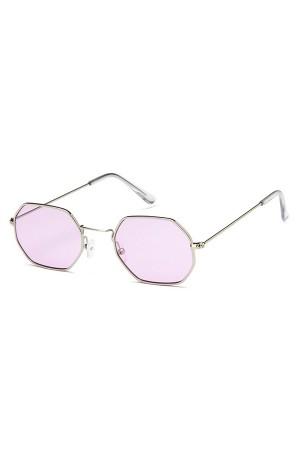Purple Hexagon Sunglasses