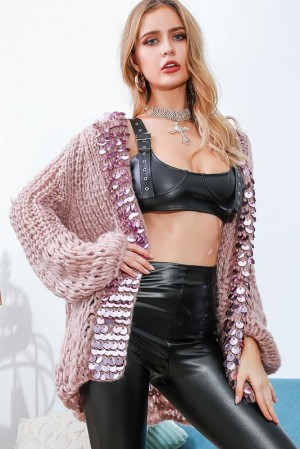 Karen Sequin Knitted Cardigan