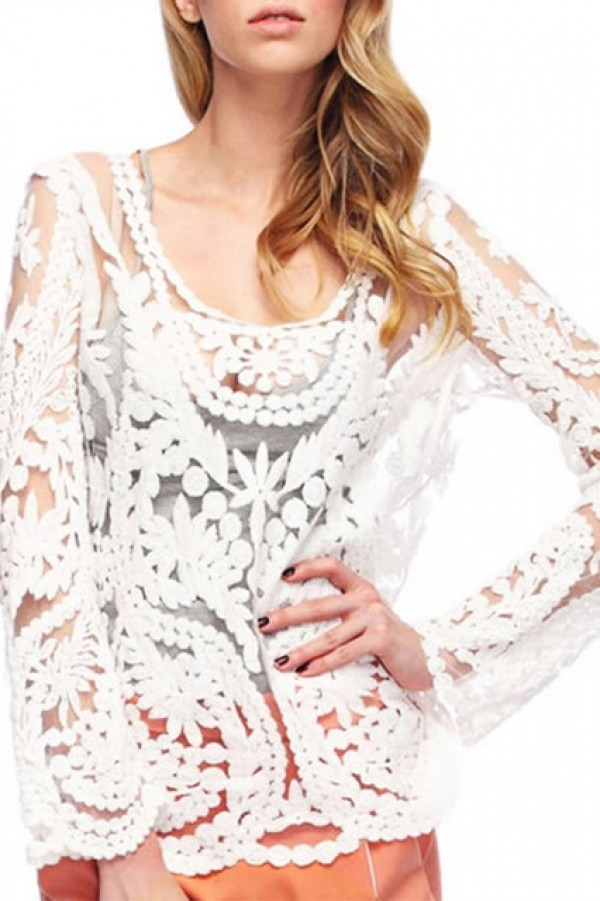 Floral Lace Crochet Top Tops Clothing Collection